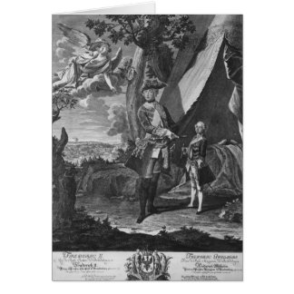 Frederick II  and His Nephew Frederick William Greeting Card