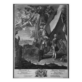 Frederick II  and His Nephew Frederick William Poster
