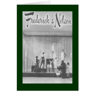 Frederick & Nelson Christmas Window Card