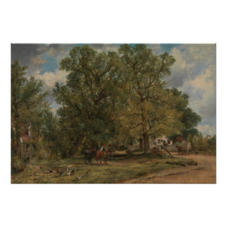 Frederick W. Watts - Landscape with Cottages Poster