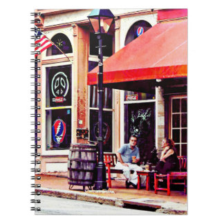 Fredericksburg VA - Outdoor Cafe Notebook