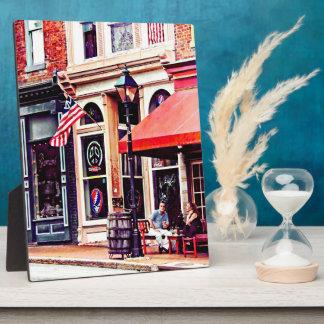 Fredericksburg VA - Outdoor Cafe Plaque