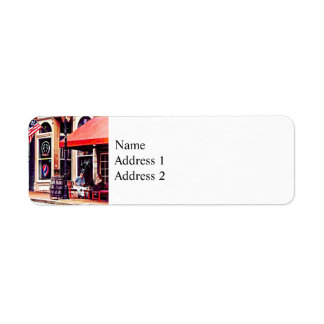 Fredericksburg VA - Outdoor Cafe Return Address Label