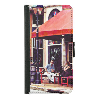 Fredericksburg VA - Outdoor Cafe Samsung Galaxy S5 Wallet Case