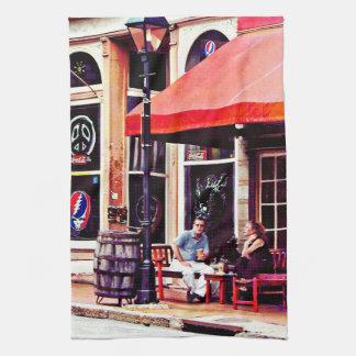Fredericksburg VA - Outdoor Cafe Tea Towel