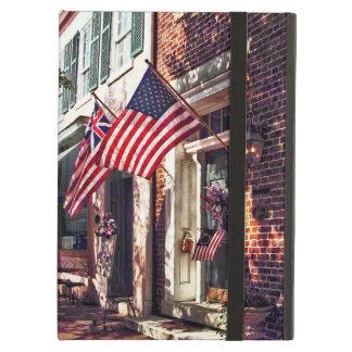 Fredericksburg VA - Street With American Flags Case For iPad Air
