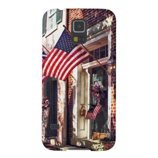 Fredericksburg VA - Street With American Flags Cases For Galaxy S5