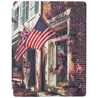 Fredericksburg VA - Street With American Flags iPad Cover