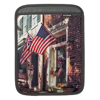 Fredericksburg VA - Street With American Flags iPad Sleeve