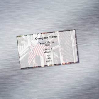 Fredericksburg VA - Street With American Flags Magnetic Business Card