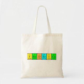Frederico periodic table name tote bag