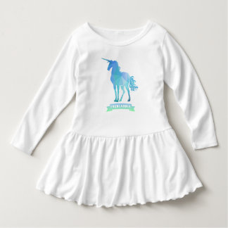 Fredlandia Unicorn Toddler Ruffle Dress