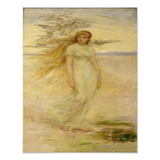 "Fredrick Stewart Church  ""The Viking Daughter"" Photographic Print"