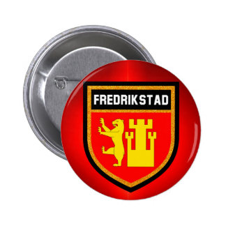 Fredrikstad Flag 6 Cm Round Badge