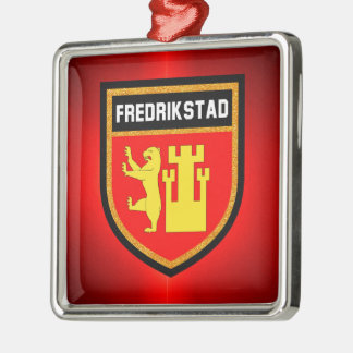 Fredrikstad Flag Metal Ornament