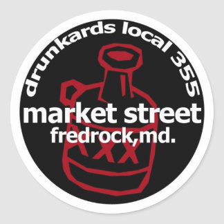 Fredrock Drunkard Decals (sheet of 6) Classic Round Sticker