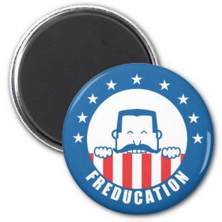 Freducation 6 Cm Round Magnet