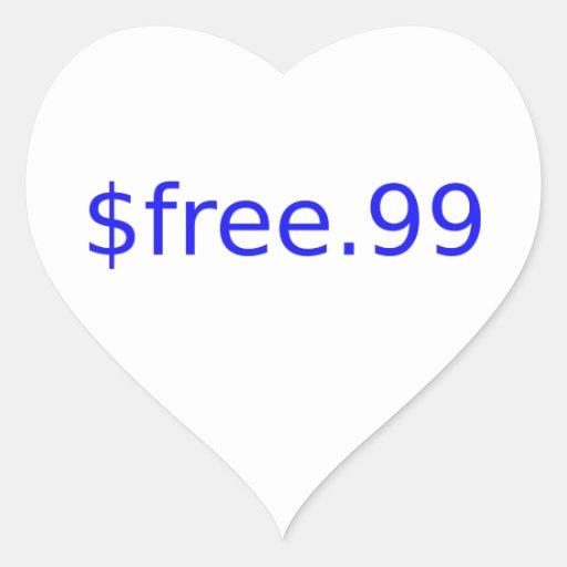 $free.99 blue stickers