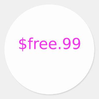 $free.99 pink round sticker