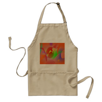 Free Abstract Orange Aprons