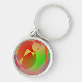 Free Abstract Orange Key Chain