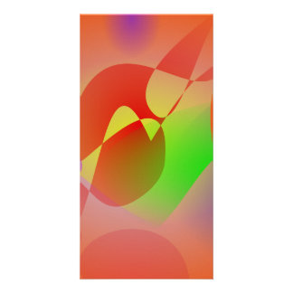 Free Abstract Orange Photo Card Template