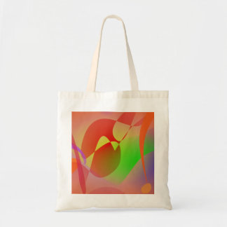Free Abstract Orange Budget Tote Bag