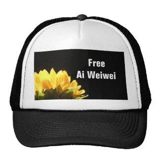 """""""Free Ai Weiwei"""" Hats Caps"""