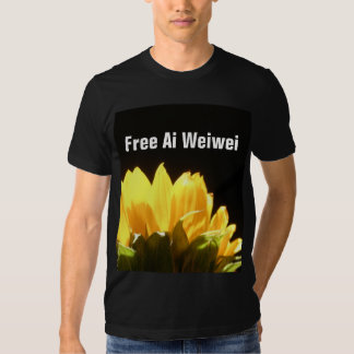 """""""Free Ai Weiwei"""" Sunflower T-Shirts"""