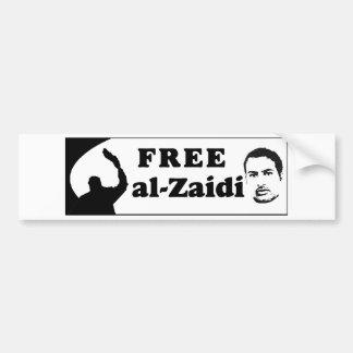 Free al-Zaidi Bumper Sticker - Iraqi Journalist