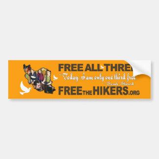 FREE ALL THREE Bumper Stickers