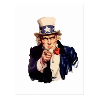 Free America Uncle Sam Post Card