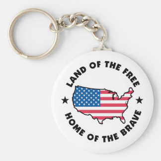 Free and Brave Key Chains