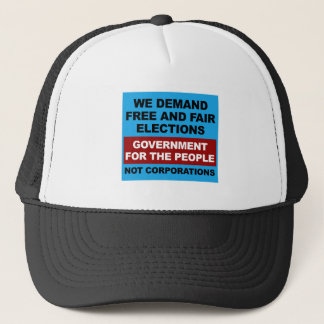 Free and Fair Elections Trucker Hat