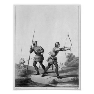 Free archers during the reign of Louis XI Print