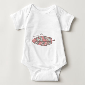 Free As A Bird Tribal Feather Baby Bodysuit