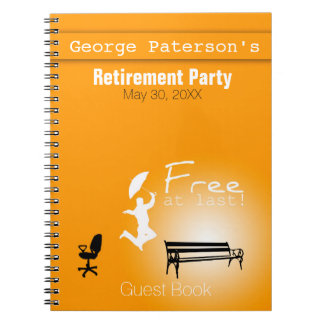 Free at Last! Retirement Party Guest Book