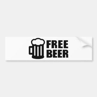 Free Beer Bumper Sticker