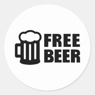 Free Beer Round Sticker