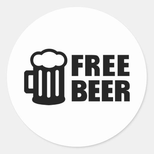Free Beer Sticker