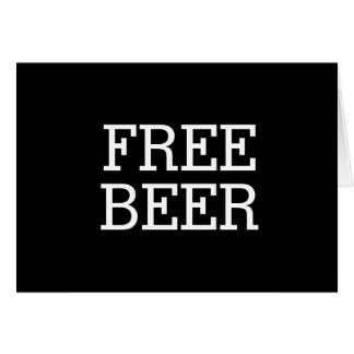 Free Beer Will You Be My Groomsman Best Man Greeting Card