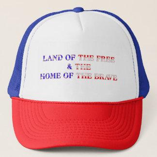 Free & Brave Red Trucker Hat