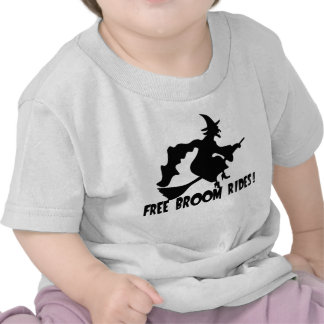 Free Broom Rides Funny Witch T Shirt