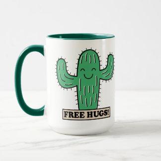 Free Cactus Hugs custom name mugs