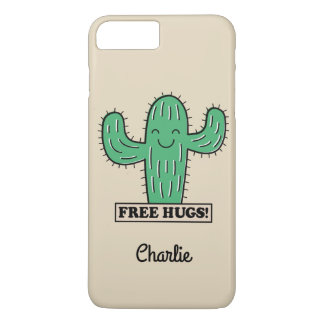 Free Cactus Hugs custom name phone cases
