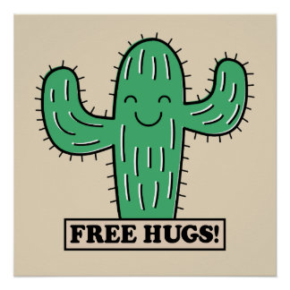 Free Cactus Hugs poster