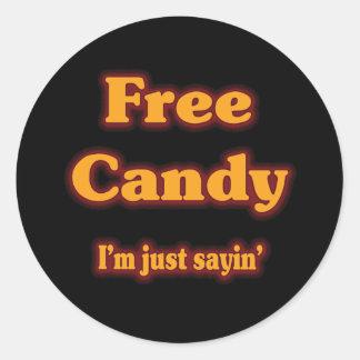 Free Candy Classic Round Sticker