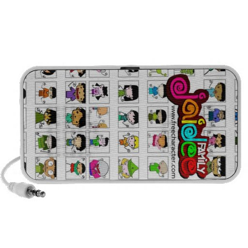 Free Characters by Jaidee Family iPhone Speakers