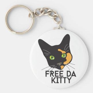 Free Da Kitty Basic Round Button Key Ring