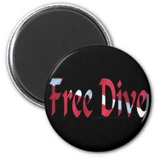 FREE DIVE-Dive for Divers Diving 6 Cm Round Magnet